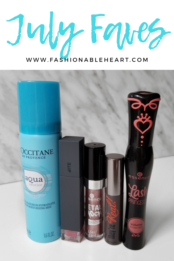 bblogger, bbloggers, bbloggerca, canadian beauty blogger, l'occitane, aqua reotier, facial mist, bite beauty, liquified lipstick, eclair, essence cosmetics, metal shock, liquid eyeshadow, stars and stories, stars & stories, benefit cosmetics, they're real, mascara, essence, lash princess, volume, mascara, monthly favorites