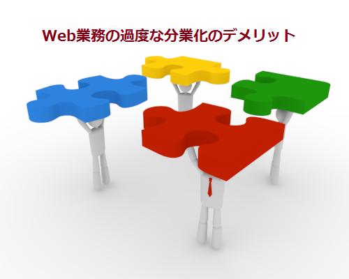 Web業務の過度な分業化のデメリット