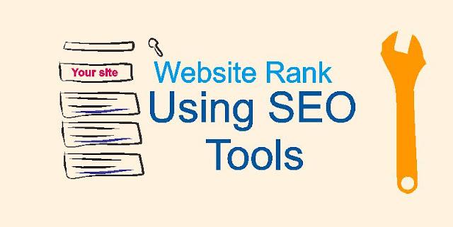Website Rank using SEO tools