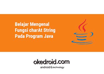 Belajar Mengenal Fungsi method charAt class kelas String pada di dalam Program Java