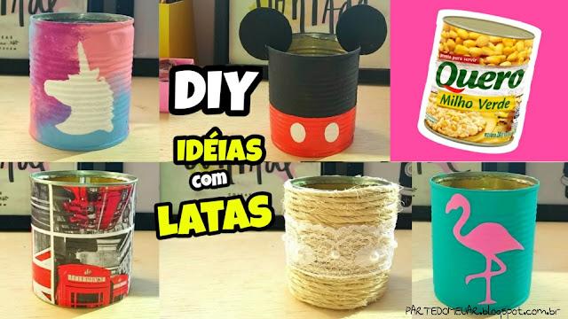 ideias com latas