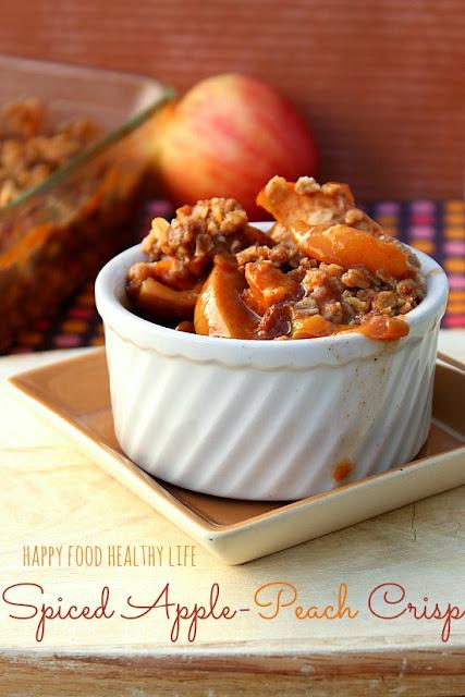 SpicedApplePeachCrisp3 27 Amazing Apple and Pumpkin Recipes for Fall 59
