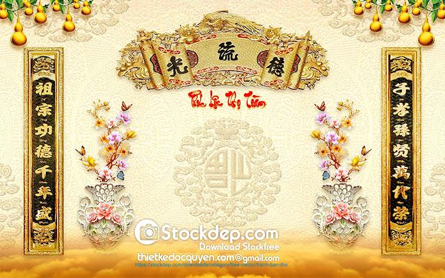 Download Tranh Treo Bàn Thờ