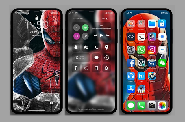 iOS Pro Spiderman MIUI Theme