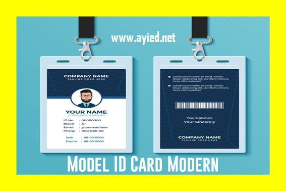 Model ID Card Modern