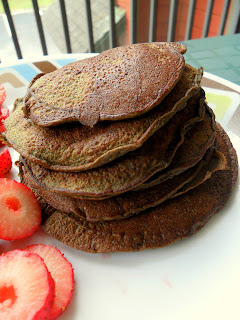 Hungry Gator Gal's Chocolate Protein Pancakes