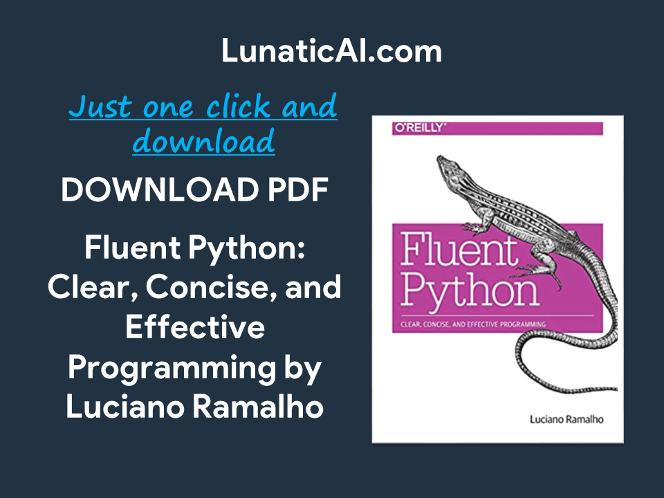 fluent python clear concise and effective programming pdf github