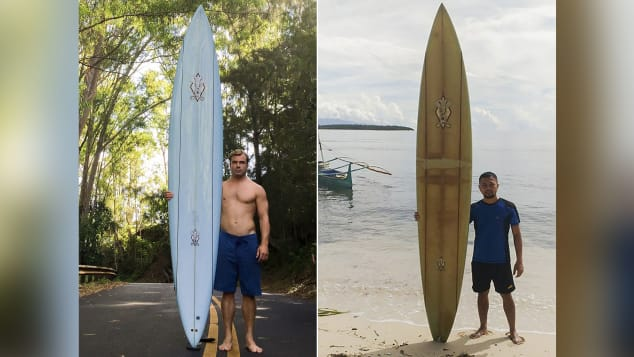 surfboard from Hawaii found in Philippines