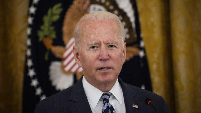 President Joe Biden speaks during a meeting on Cybersecurity