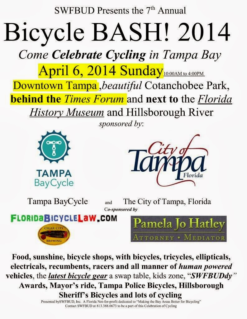 BICYCLE BASH -- APRIL 6 Downtown Tampa