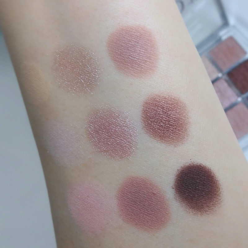 Dior Backstage Cool Neutrals swatches