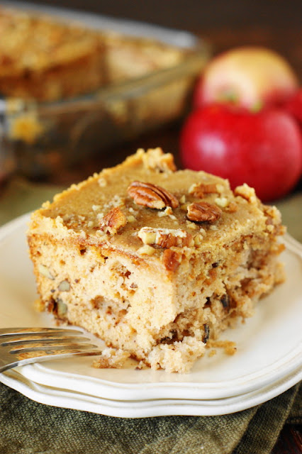 Slice of Old-Fashioned Apple Cake Image