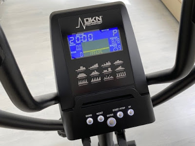 Cross trainer screen at home