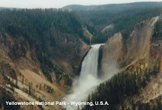 yellowstone falls  usa wyoming