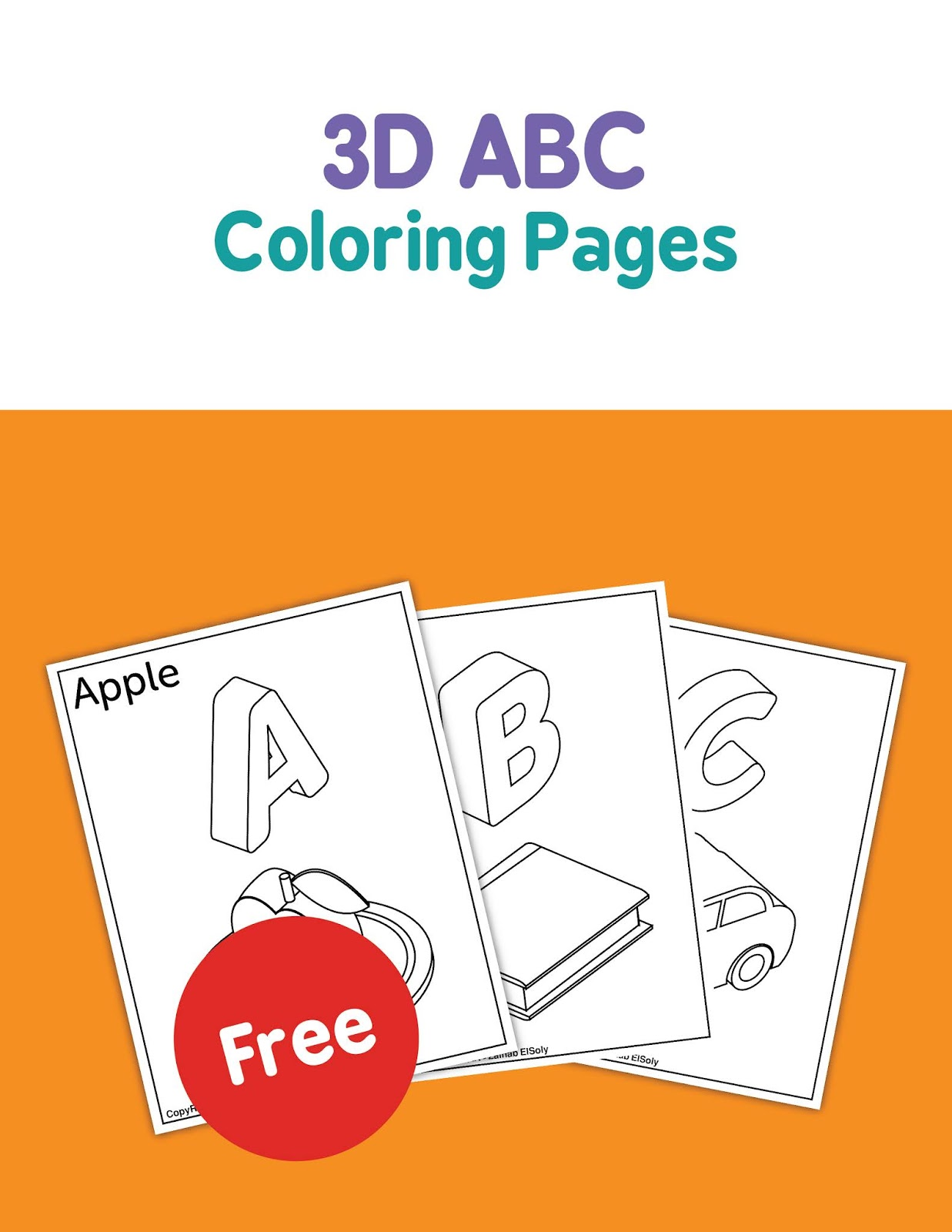 Free 3d Coloring Pages - Coloring Home | 1600x1237