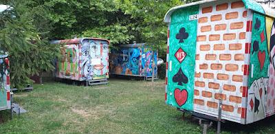 Pole kempingowe namiotowe Lipóti Termál Camping w Lipot na Węgry, domki