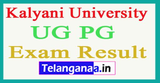Kalyani University Results 2018 Kalyani University UG PG Results 2018
