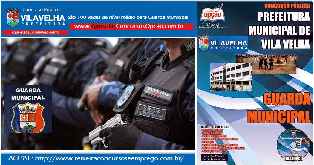 Apostila Guarda Municipal de Vila Velha Concurso Publico 2014.