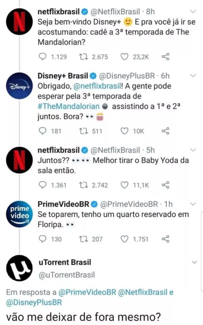 disney plus netflix prime video e utorrent