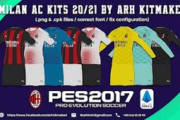 AC Milan Full Kits Season 2021 - PES 2017