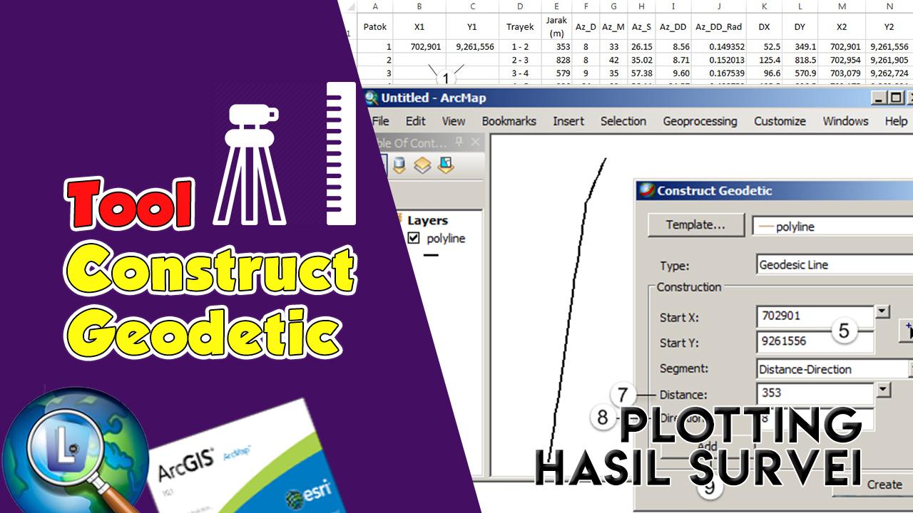 Plotting Hasil Survei dengan Tool Construct Geodetic