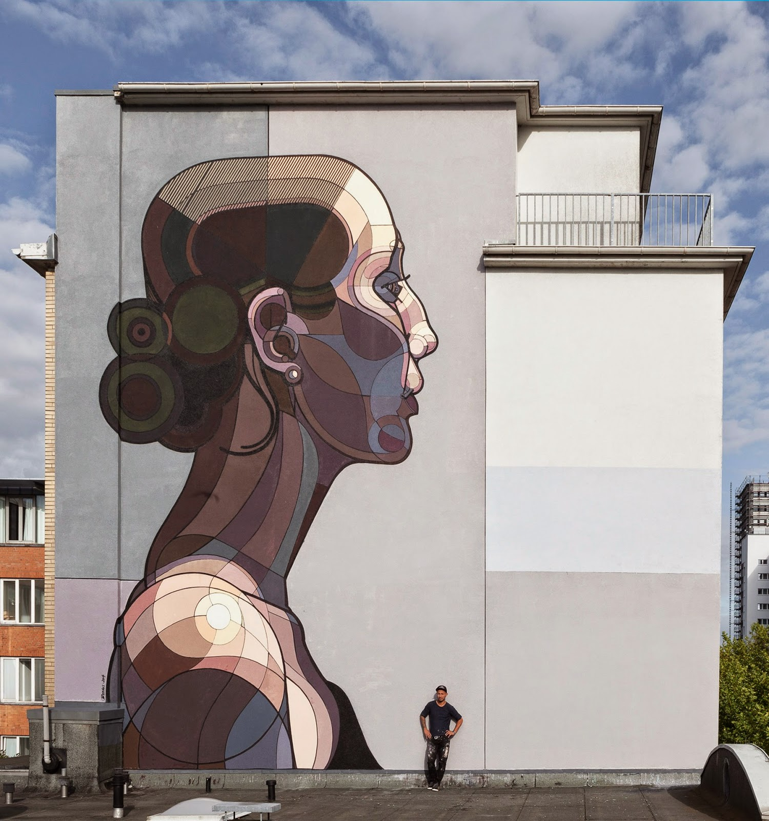 Known as Toast in graffiti circles and Atalier in graphic design circles, Ata Bozaci has spent the last few days working on this massive new piece somewhere on the streets of Hamburg in Germany.