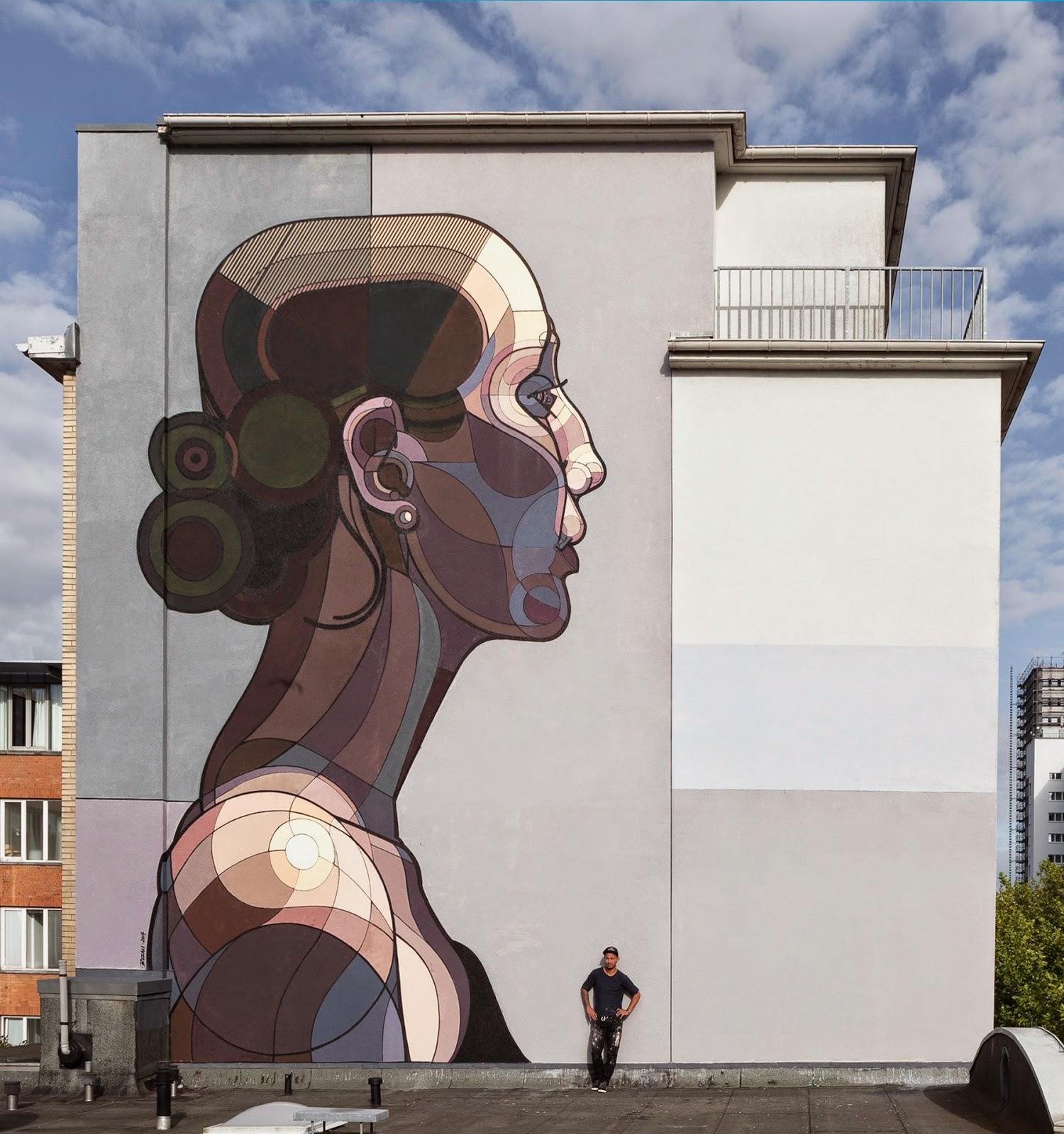 Ata Bozaci Paints Beautiful Facebook For Stamp Festival Hamburg Germany Streetartnews Streetartnews