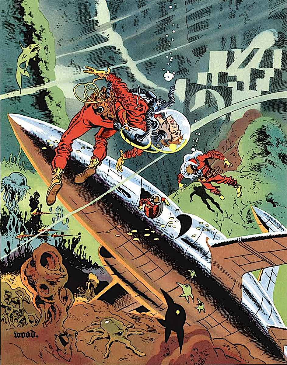 a Wallace Wood science fiction comic book cover