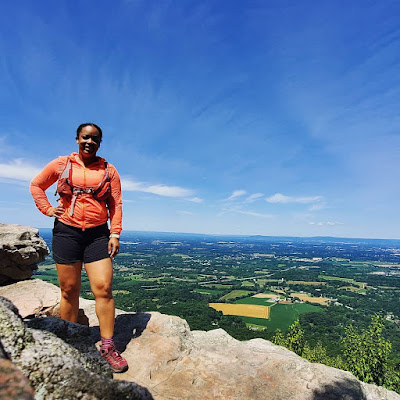 black woman hiking the Appalachian Trail in Frederick, Maryland