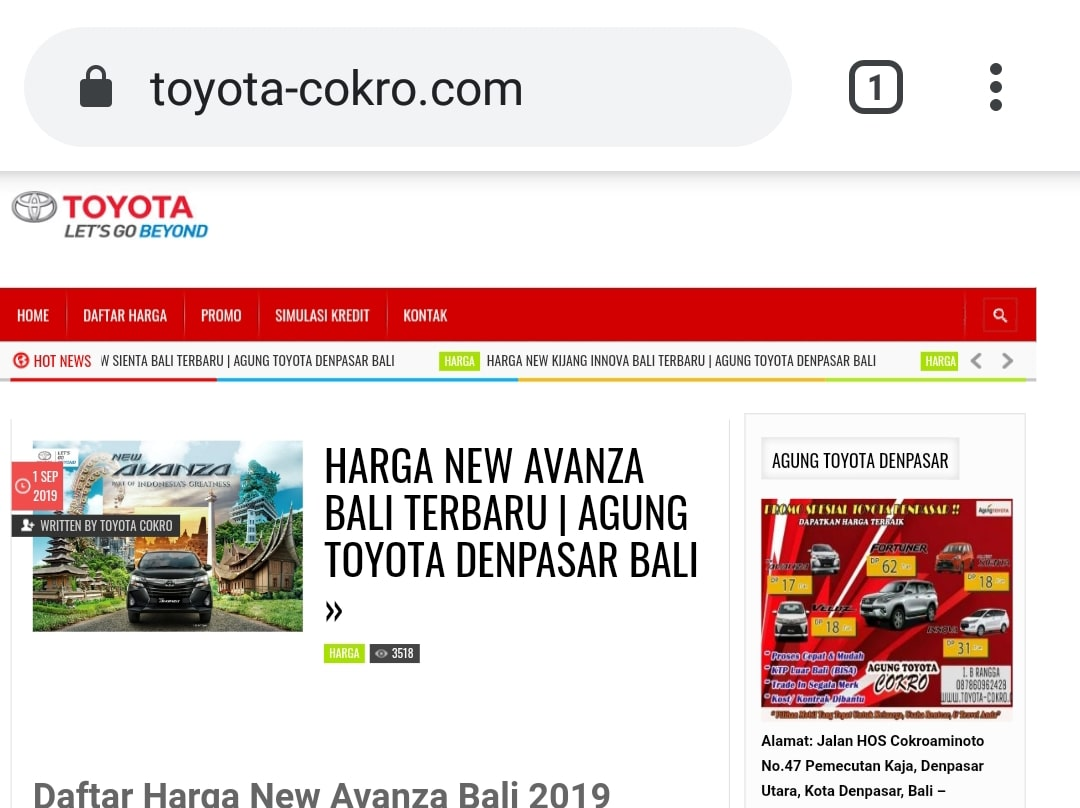Website Toyota Cokro By Bayu-Media Web & Ads