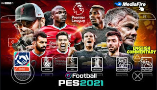 Download PES 2021 PPSSPP Chelito V2 English Commentary Special Premier League Version & New Transfers