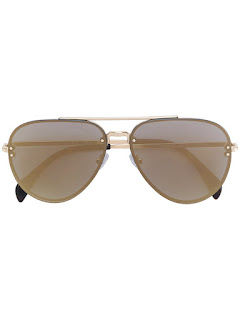 replica celine gold-tone Mirror aviator sunglasses