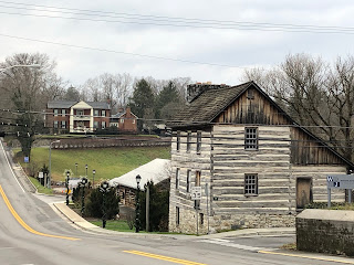 old buildings and a town road