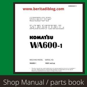 Komatsu WA600-1 service shop manual whell loader
