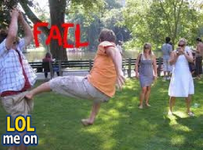 "funny fail picture shows a ball kicking fail  from ""LOL me on"""