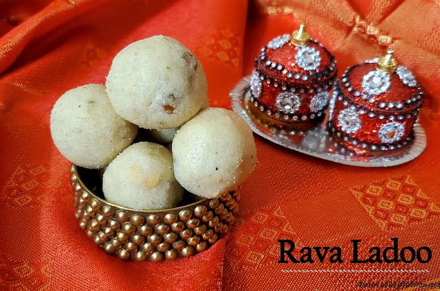 images of Rava Ladoo Recipe / Sooji Ladoo Recipe / Semolina Ladoo Recipe - Gokulashtami Recipes