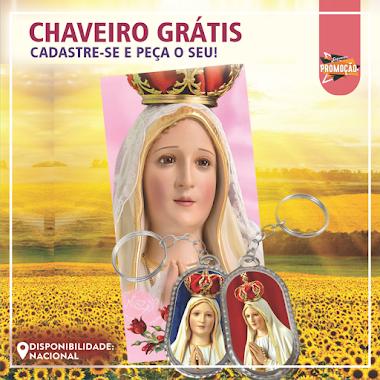 Brindes Grátis - Chaveiro de Nossa Senhora de Fátima