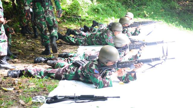 Yonmarhanlan VIII Bitung Laksanakan Latihan Menembak TW 2 TA 2020