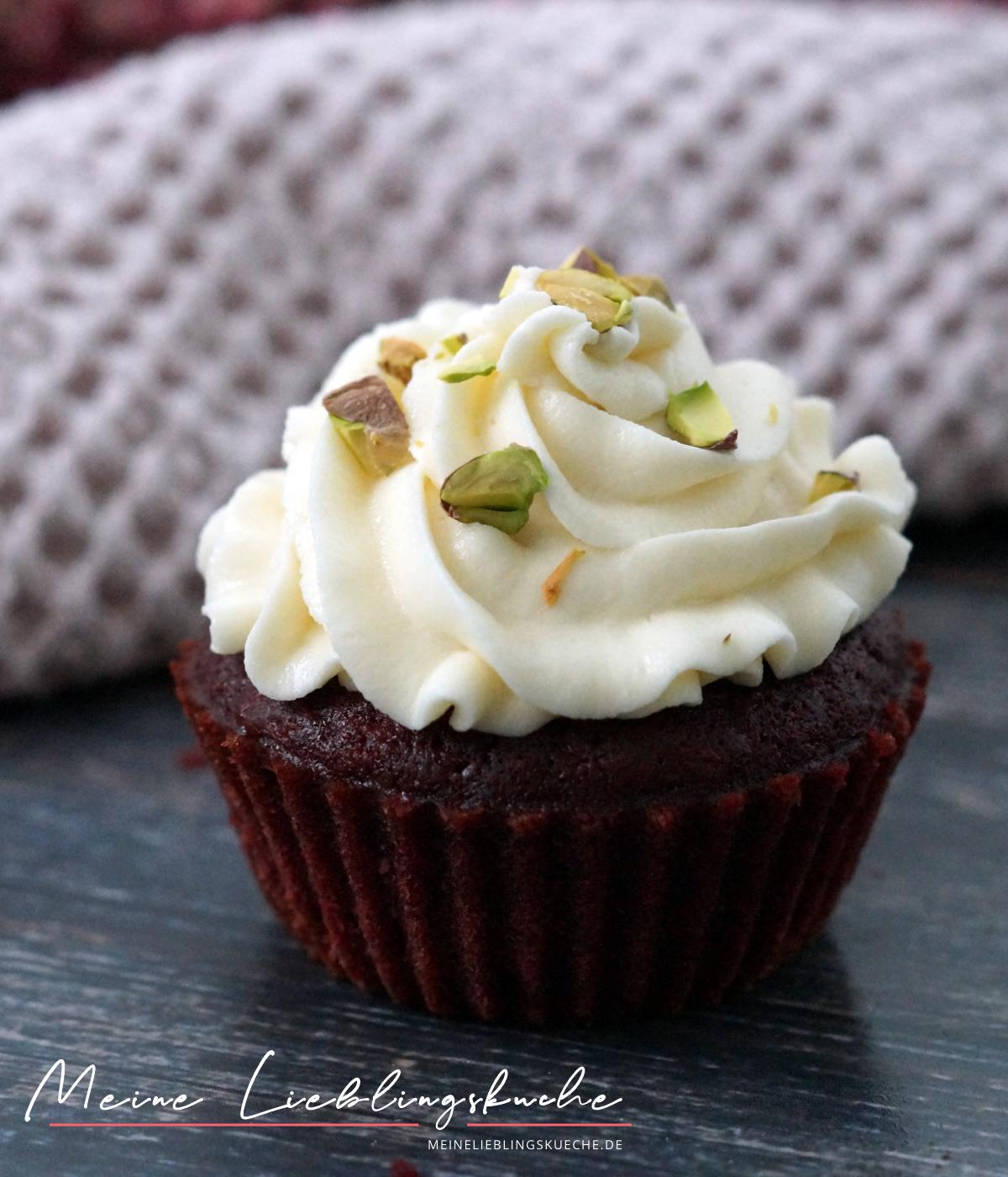 Vegane Red Velvet Cupcakes mit roter Bete