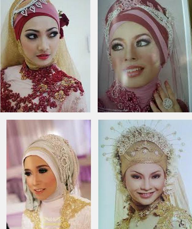 Contoh gambar foto model jilbab pengantin muslimah syar\u002639;i modern