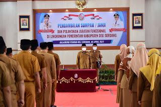 110 Pejabat Fungsional di lingkungan Pemkab Deli Serdang Dilantik
