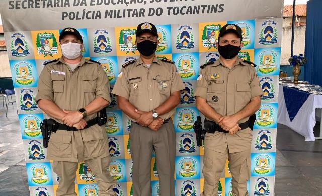 Em cerimônia no Colégio Militar de Araguatins, tenente-coronel Márcio se despede após 30 anos de PM