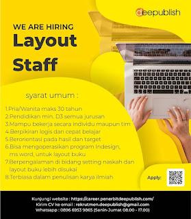 Lowongan Kerja Yogyakarta Terbaru Februari 2020 di Penerbit Deepublish (CV. Budi Utama)