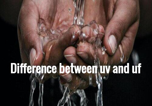 Difference between uv and uf