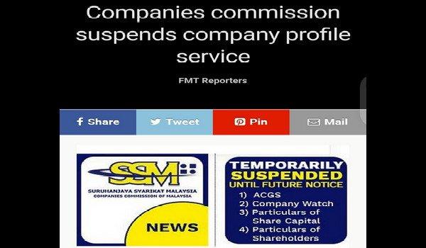 Orang awam tidak boleh buat carian SSM lagi selepas pendedahan syarikat milik kroni Mahathir, Vincent Tan