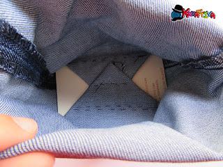fondo cestino di jeans