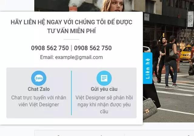 Code liên hệ cho blogspot hiển thị chính giữa bên trái màn hình