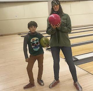 Kelly Wiglesworth with her son Rio
