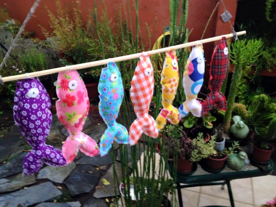 peces decorativos de tela,colores