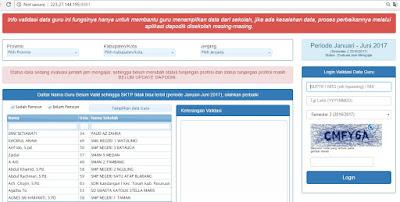 validasi data guru di info gtk